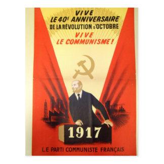 Propaganda francesa do comunista do vintage cartões postais