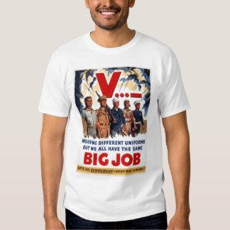 Propaganda grande do trabalho WW1 Tshirts