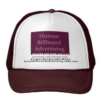Propaganda humana do quadro de avisos - chapéu 1 boné