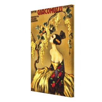 Propaganda italiana do vermute do vinho do vintage impressão em canvas