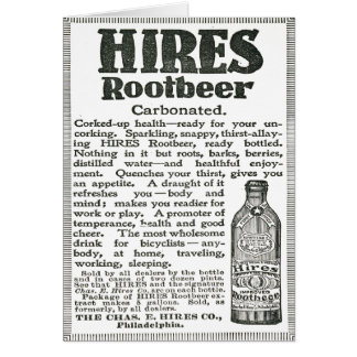 Propaganda preto e branco do refrigerante root cartão comemorativo