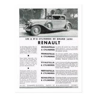 Propaganda, Renault Cartoes Postais