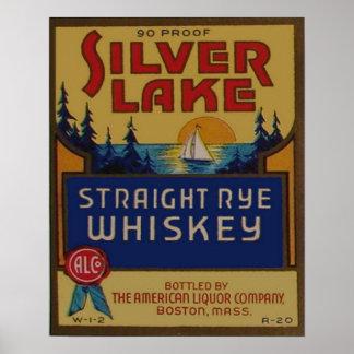 Propaganda retro do licor do uísque de Rye do Pôster