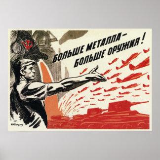 Propaganda soviética 1942 de WWII URSS Poster