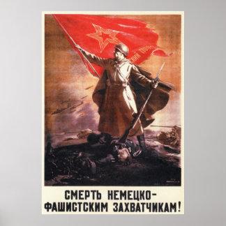 Propaganda soviética 1944 de WWII URSS Poster
