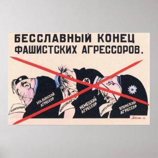 Propaganda soviética 1945 de WWII URSS Posters