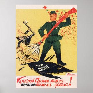 Propaganda soviética 1945 de WWII URSS Impressão