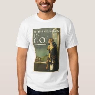 Propaganda WW1 britânica Tshirts