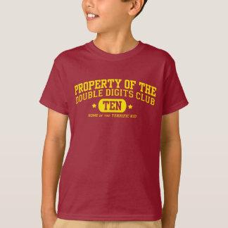 Propriedade aniversário do clube dos dois dígitos camiseta