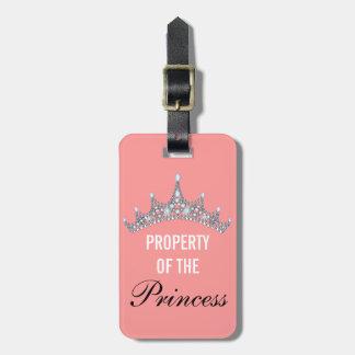 Propriedade da princesa Tiara Bagagem Tag Etiqueta De Bagagem