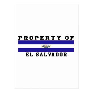 Propriedade de El Salvador Cartao Postal