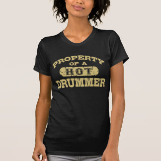 Propriedade de um baterista quente camiseta