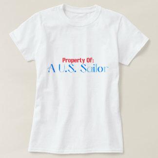Propriedade de um marinheiro camisetas
