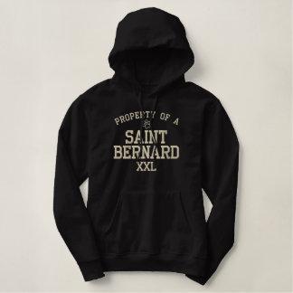 Propriedade de um St Bernard Moletom Bordado Com Capuz