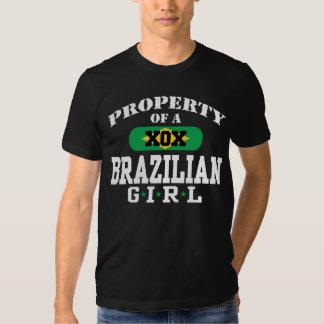 Propriedade de uma menina brasileira camiseta