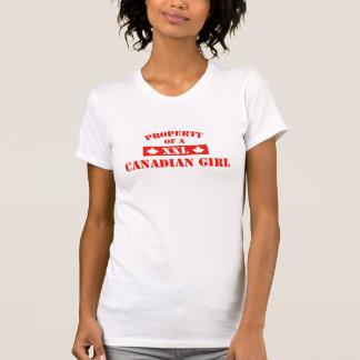 Propriedade de uma menina canadense camisetas