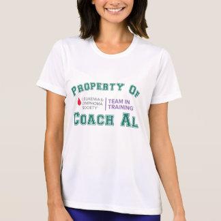 Propriedade do Al do treinador T-shirts