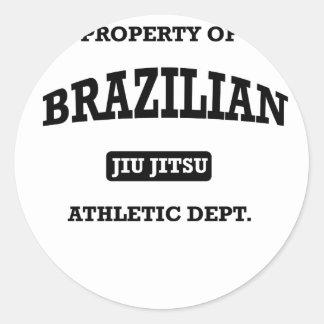 Propriedade do brasileiro Jiu Jitsu Atheltic Adesivo