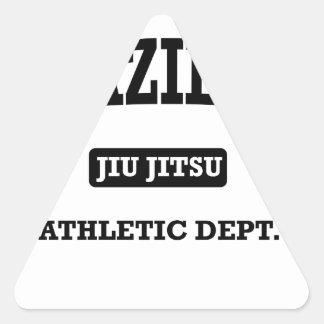 Propriedade do brasileiro Jiu Jitsu Atheltic Adesivo Triangular