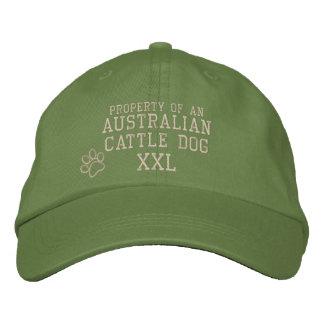 Propriedade do chapéu bordado do gado cão boné bordado