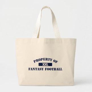 Propriedade do futebol da fantasia sacola tote jumbo