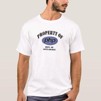 Propriedade do PHP Camiseta