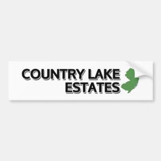 Propriedades do lago country, New-jersey Adesivo Para Carro