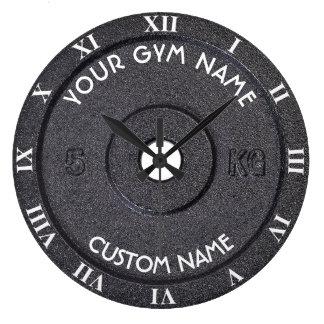Proprietário ou usuário do Gym com o texto curvado Relógio Grande