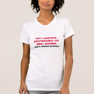 Proprietário responsável do pitbull camisetas