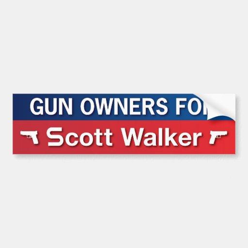 Proprietários de arma para o caminhante de Scott Adesivos