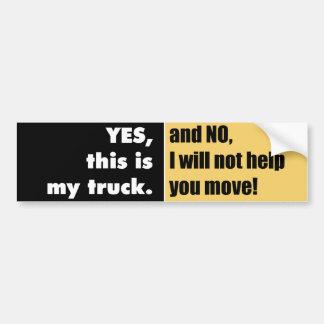 Proprietários do caminhão adesivo para carro