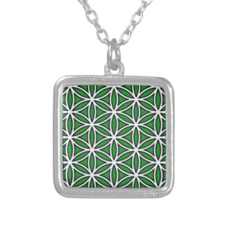 prosperity5 colar com pendente quadrado
