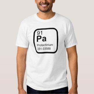 Protactinium - design da ciência da mesa periódica tshirt