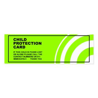 Proteção segurança da criança modelos cartões de visita
