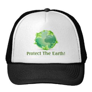 Proteja a terra bonés