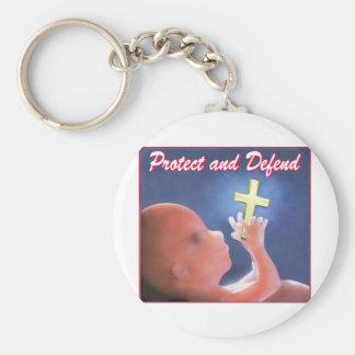 Proteja e defenda chaveiro