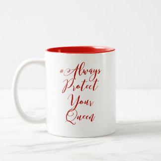 Proteja sempre sua caneca de café da rainha