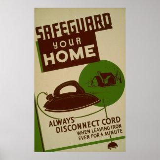 Proteja seu poster vintage Home de WPA