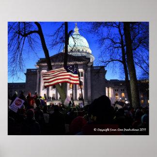 Protesto de Madison para matar o Bill Pôster