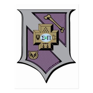 Protetor 4-Color do Pi do Sigma Cartão Postal