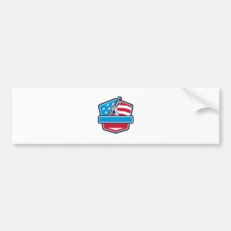 Protetor da bandeira dos EUA da chave de tubulação Adesivo De Para-choque