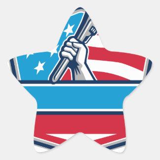Protetor da bandeira dos EUA da chave de tubulação Adesivo Estrela