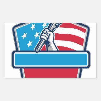 Protetor da bandeira dos EUA da chave de tubulação Adesivo Retangular
