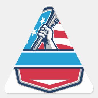 Protetor da bandeira dos EUA da chave de tubulação Adesivo Triangular