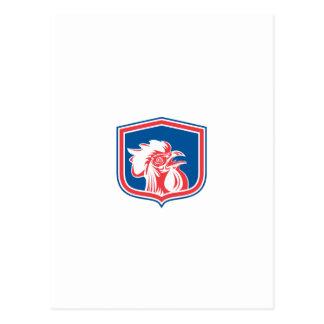 Protetor da mascote da cabeça do galo da galinha cartões postais