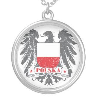 Protetor de Polska Colar Banhado A Prata