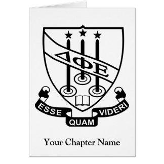 Protetor do épsilon da phi do delta cartão de nota