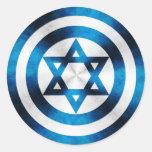 Protetor do herói do capitão Israel Adesivos Em Formato Redondos