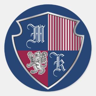 Protetor do leão da prata do emblema do monograma adesivo