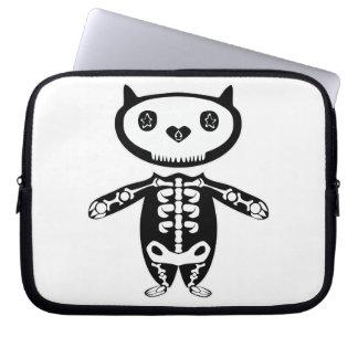 Protetor do livro do Mac do sceleton do gato Capas Para Notebook